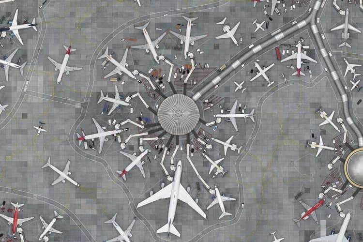 Aeroporto, detail